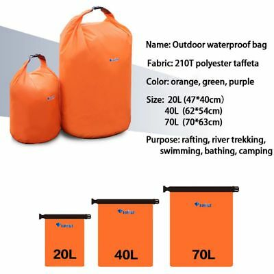 70L Water Resistant Waterproof Dry Bag Canoe Floating Boating Kayaking Camping