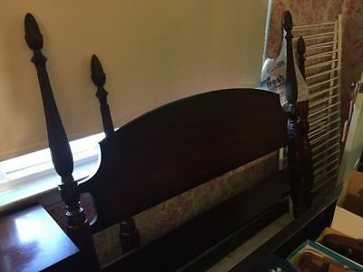 Vintage/Antique Cherry Wood Headboard Footboard Slats Rails (Double/Full Size)