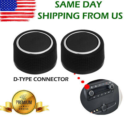 For Chevy Silverado 07-13 GMC Cadillac Rear Radio Volume Control Knob Black New