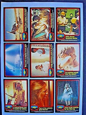 1978 Scanlens *close Encounters Of The 3Rd Kind* Complete 66 Card Set + Wrapper