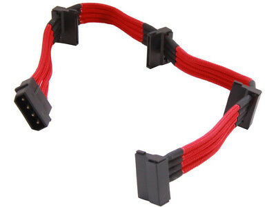 Silverstone PP07-BTSR Sleeved Extension Power Supply Cable with 1 x 4pin to 4 x