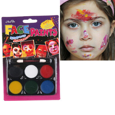 Kid Face Paint Multi-Colors Kit for Kids Healthy Face Painting Cosplay toy AU'