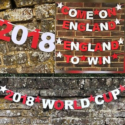 Pub England World Cup 2018 decirations world cup banner bunting COME ON ENGLAND