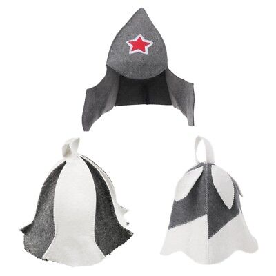 Wool Felt Sauna Hat Cap Anti Heat for Russian Sauna Hut With Hang Loop Unisex