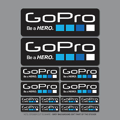 14 x Go Pro Be A Hero Stickers - Decals - SKU2683