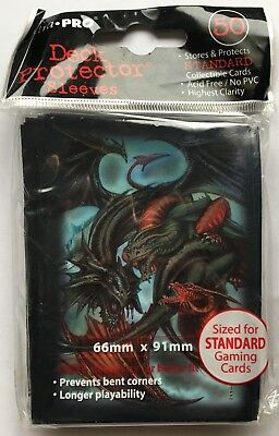 ULTRA PRO PROTECTOR CARD SLEEVES 50 pochettes protege cartes TRINITY DRAGON