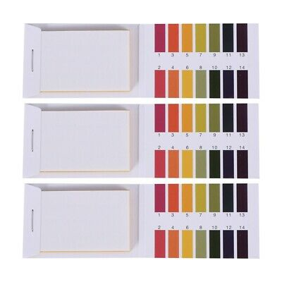 3 set 240 Strips Professional 1-14 pH litmus paper ph test strips water cos C1F6
