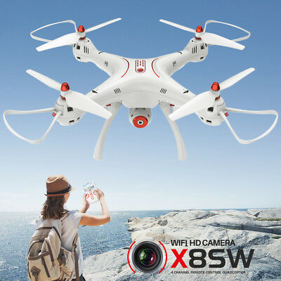 Genuine RC Quadcopter Drone Syma X8SW FPV Wifi HD Hover Camera Set Height OEM