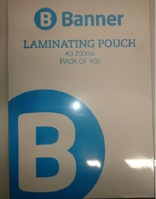 A3 Laminating Pouches 250 Micron Laminator Laminate Sheets FREE Delivery PS13