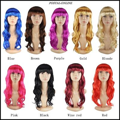 Long Curly Womens Sexy Fancy Dress Wigs Cosplay Costume Ladies Full Wavy Party !