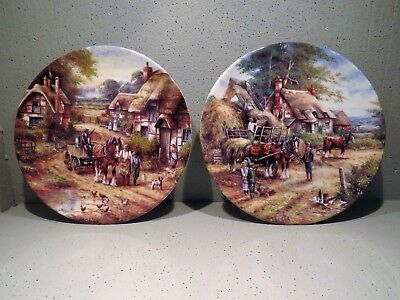 Wedgwood Horse plates Pair (2) FREE POST in Ireland