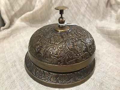 NEW heavy metal decorative bronze colour retro style large dinner bell /counter