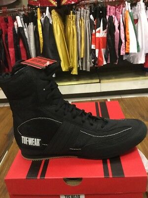 Tuf Wear Shuffle Black Boxing Boots UK 9.5 - Add Your Name