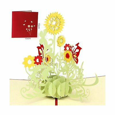 3d flower pop up greeting card handmade thank you birthday mom 3d flower pop up greeting card handmade thank you birthday mom mothers day gift m4hsunfo