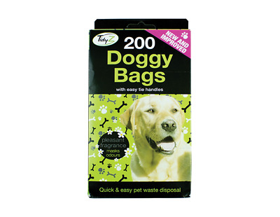 DOGGY BAGS Scented Pet Pooper Bag Dog Cat Poo Waste Scooper Toilet Tit Handles