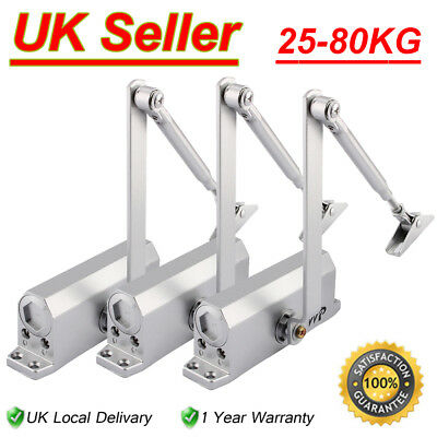 UK 25-80KG Heavy Duty FIRE RATED Overhead Door Closer Opener Automatic Closure