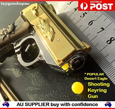 Large Metal Shooting Desert Eagle Gun Model Key Ring Gun Keyring Mens Boys Gift