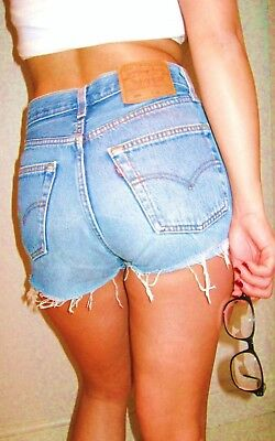Levi Vintage Womens High Waisted Denim Shorts Size 6 8 10 12 14 Distressed Levis