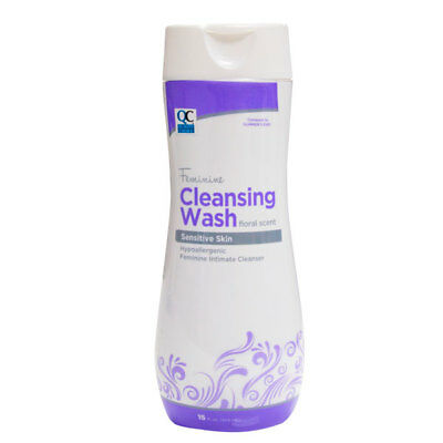 Quality Choice Feminine Cleansing Wash, Floral Scent 15 Ounces Each
