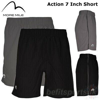 "More Mile Mens 7 Inch Action Running Jogging Fitness Gym Shorts 7"" S M L Xl"