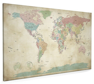 World map antique old style box canvas and poster print 228 world map antique old style box canvas and poster print 946 gumiabroncs Choice Image