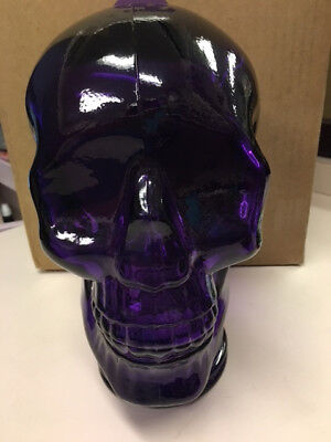 PURPLE  AMETHYST Glass SKULL Mannequin Head REDUCED ~Large~NEW!!~REDUCED~~~