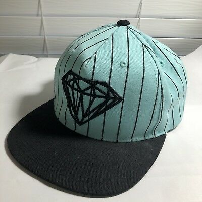 DIAMOND SUPPLY CO Snapback Hat Headwear Cap Skatewear Lid Mens Aqua ... 4d1ebedc7af