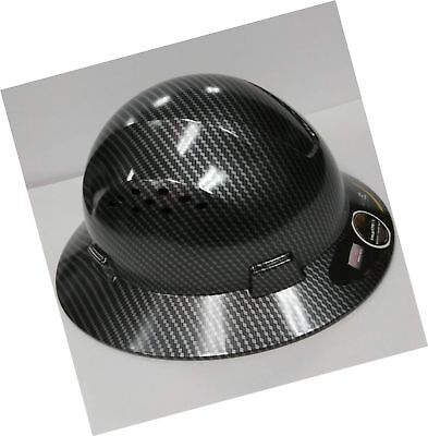 HDPE Hydro Dipped Black Full Brim Hard Hat with Fas... - NO TAX. FREE 2 day Ship
