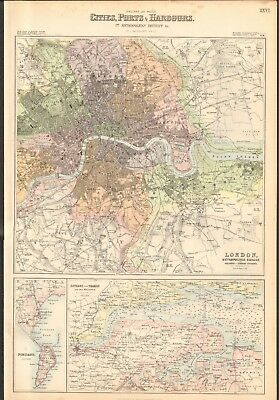 Art Antiques Thames Estuary Medway Southend-on-sea Sheerness Margate Clacton Large 1939 Map