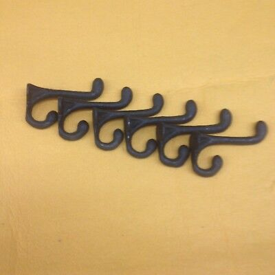 Cast Iron Antique Replica Old English   Coat Hook  Set Of 6  (Free Shipping)