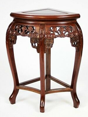 Vintage Chinese Style Carved Mahogany Corner Table - FREE Shipping [PL4424]