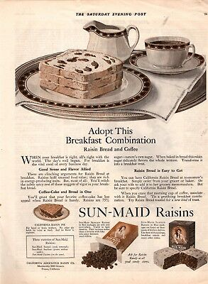 1919  Magazine Print Ad Sun-Maid Raisins Advertisement A135