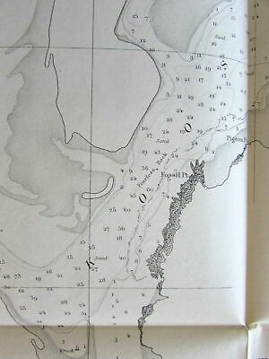 Oregon 1862 Coos Bay rare nautical chart U.S. Coast survey west