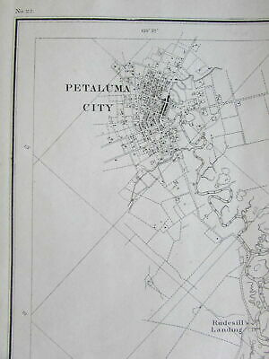 California Napa Vallejo Petaluma City creek 1862 nautical chart US Coast survey