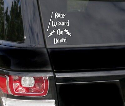 Baby On Board Wizard Harry Potter inspired funny Car Bumper Sticker Vinyl Decal