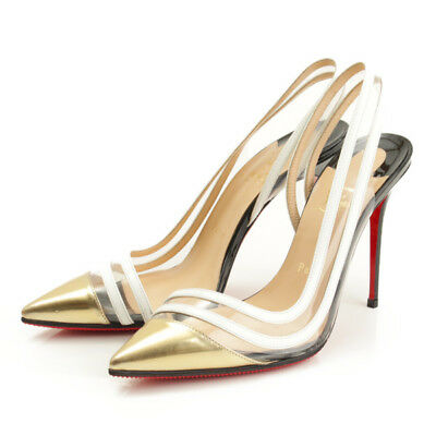 4bfdfcbd72 Authentic Christian Louboutin Paralili 100 Clear Pumps Grade A Used -At