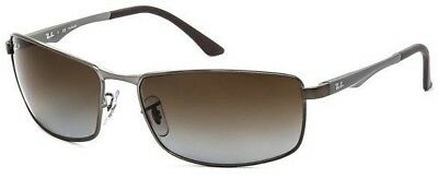 eea301db760 Ray Ban RB3498 029 T5 Matte Gunmetal   Grey Gradient Brown Polar. 59mm  Sunglass