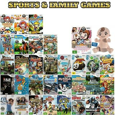 Nintendo Wii 💚💛 SPORTS & FAMILY GAMES 💛💚 Described Individually 17/05/18