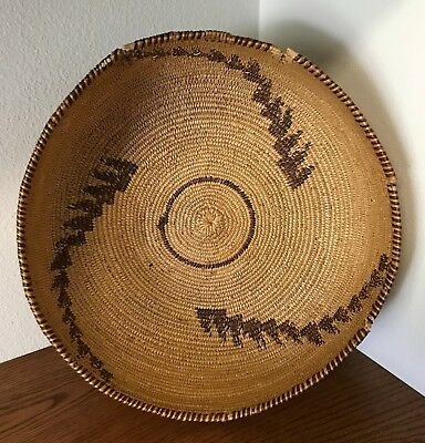 Large Native American Indian Basket - Over 100 Years Old