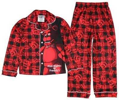"Five Nights At Freddy""s Fazbear 2-pc Flannel Type Pajama Set 6 - -8 - 10 NWT $36"