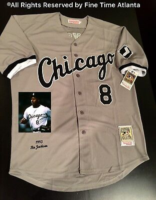 Bo Jackson Chicago White Sox Men s M N Grey 1993 Throwback Jersey Royals  Raiders 6cafda11f