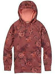 NEW Snow gear Burton Womens Crown Bonded Pull Over Marsala Wild Flowers
