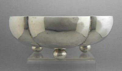 Vtg Casa Prieto Sterling Silver Mexican Modern Artisan Handmade Footed Bowl Dish
