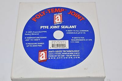 NEW ANTI-SEIZE AST28010 JOINT SEALANT PTFE 3/8'' x 25Ft