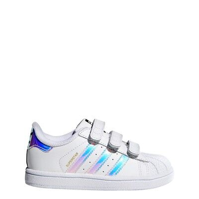 New Adidas Baby Originals Superstar Cf Toddler Shoes [Aq6280]  White/hologram