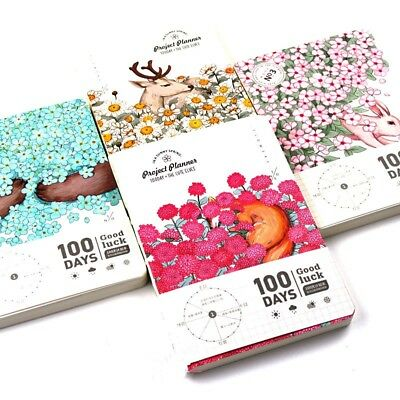 """Animal World"" 1pc 100 Days Daily Planner Study Journal Agenda Travel Notebook"