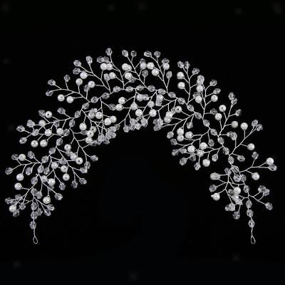 Elegant Bridal Wedding Crystal Pearls Headpiece Wedding Jewelry Accessories