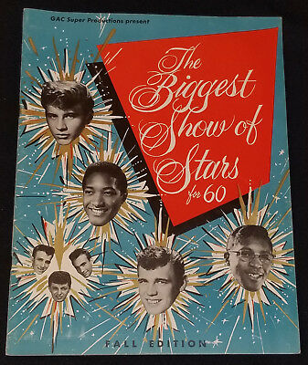 1960 - The Biggest Show Of Stars - Rock 'n Roll - Concert - Fall Edition Program