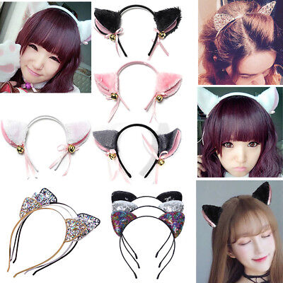 Sexy Fox Cat Ears Long Headband Animal Cosplay Hair Clip Party Costume Gift