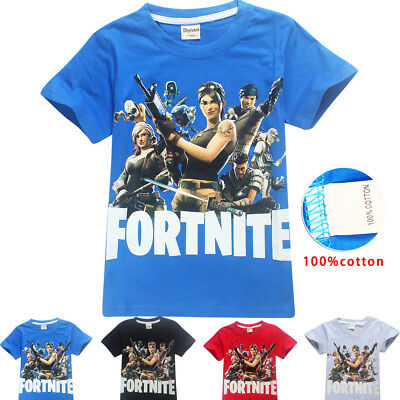 Kids Boys Girls Cotton Summer Crew T-Shirts fortnite Print Child Tops Tee
